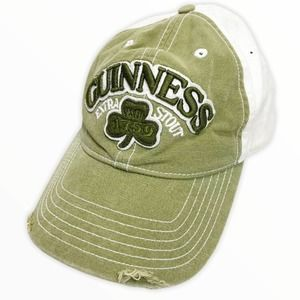 Guinness Extra Stout 1759 Distressed Ball Cap Hat
